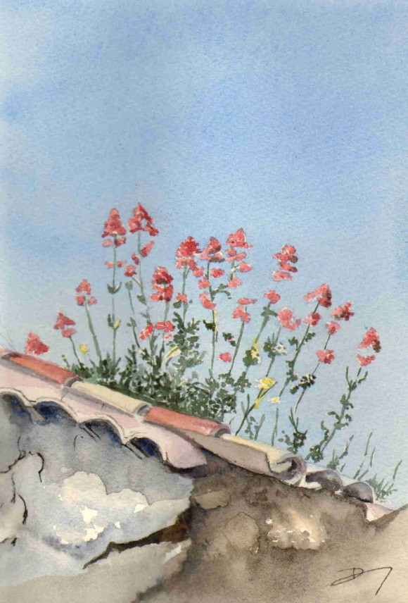Les tuiles fleuries
